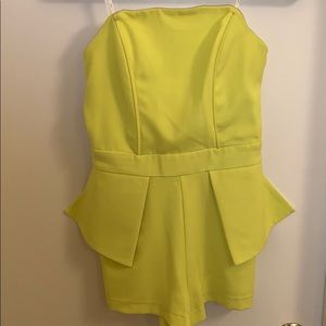 Yellow romper from revolve 2015